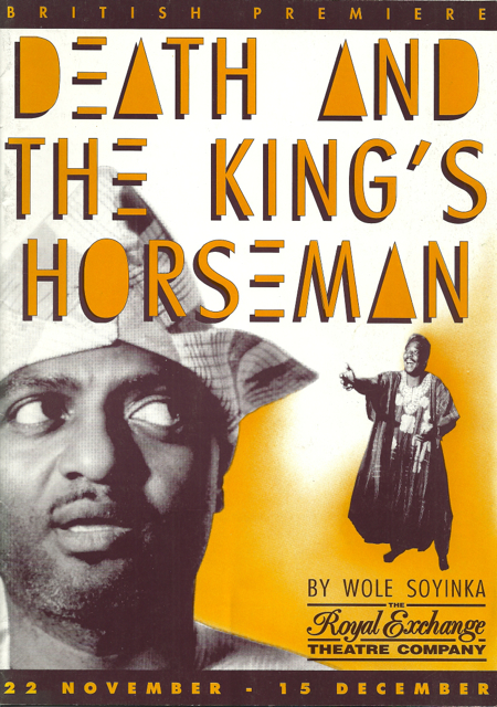 an analysis of wole soyinkas play death and the kings horseman Soyinka: death and the king's horseman this 6 page paper discusses the play death and the king's horseman by wole soyinka the play is set in nigeria during wwii, but the playwright argues that it is not to be seen as a statement about colonialism.